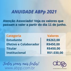 Anuidade ABPp - 2021